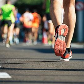 Marathon running race