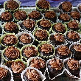 mini chocolate cupackes