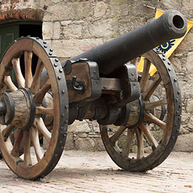 photo of an old cannon